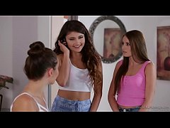 Adria Rae and her BFF visit a massage parlour - Scarlett Sage and Lana Rhoades