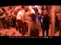 French Hidden cam in a swinger club! part 4