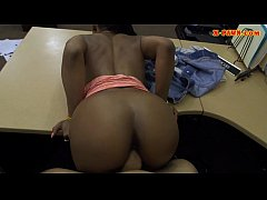 Black girl pussy railed at the pawnshop