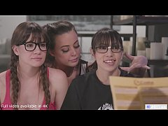 GIRLSWAY - Nerd girls playing and the cheerleader steps in! - Alison Rey, Whitney Whright, Ivy Wolfe, Judie Jolie