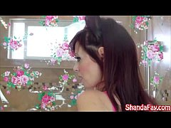 Kinky Canadian MILF Shanda Plays With Shower Head!