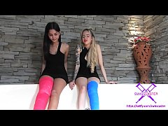 Fetish-Concept.com - 2 Girls with Long Cast Leg in jacuzzi (LCL)