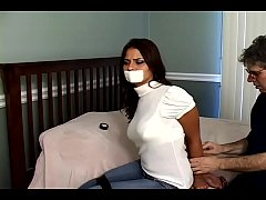 Cali Logan Hogtied, Gagged, Fondled