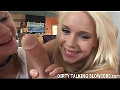 We will talk dirty while we give you a POV double blowjob