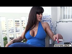 Tremendous tits MILF Lisa is playing around with respectable man