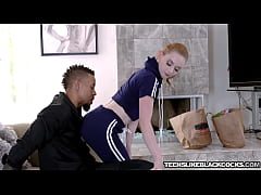 Cute babe Athena Rayne simply adores big black cock
