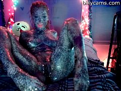 Sexy Painted Girl Masturbate - BillyCams.com