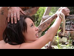 Deep & hardcore anal sex in the woods gives Nikita Bellucci gaping asshole action