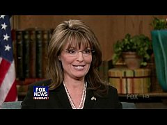 Sarah Palin in sheer off black pantyhose