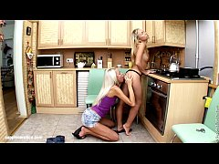 Cute blondes have fun in Kitchen Fondling by Sapphic Erotica