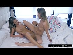 NubileFilms - Hot BFFs Scissor Fuck At Sleepover