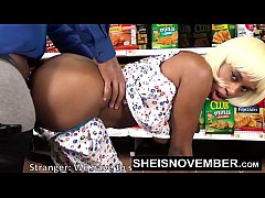 Pornstar Sheisnovember Big Ass Doggystyle & Big Tits Biting Cock In Walmart