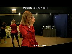 for dance lessons blonde fucked in the mouth