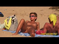 Nudist Beach MILF Closeup Spycam Compilation