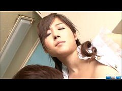 Moe Yoshikawa gets creamed after serious porn show