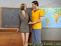 Mistress seduced her student