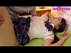 JAV cute school girl fucking while the girlfriend is sleeping without knowing anything