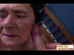 Old grandma pussy lick and fuck