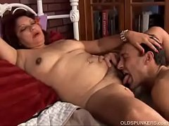Horny step aunt makes her nephew lick her bush!