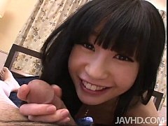 Innocent teen Mizutama Remon sucks a cock ...