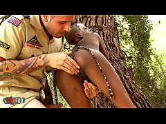 HD African Sex Safari with skinny ebony babe fucking white guy