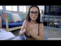 Stepson doggystyle fuck milf Crystal Rush matured pussy from behind like a jack hammer!
