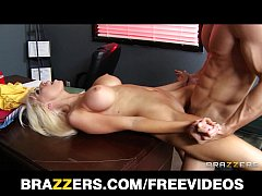 Stunning blonde slut Rikki Six is caught spanked and fucked