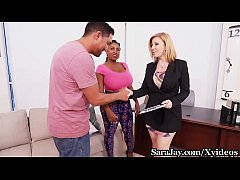 Sex Therapist Sara Jay Fucks Patient Maserati & Her BF!