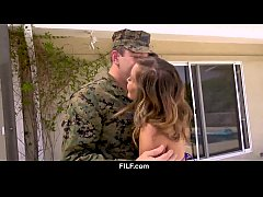 Asian StepMom Christy Love Gives Her Soldier StepSon A Warm Welcome Home from the Military