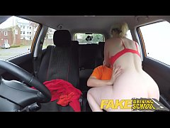 Fake Driving School Students squirting shaven p...