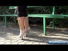 high heels amateur public nudity & voyeur HD