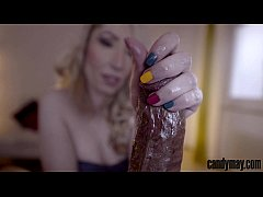 Candy May - Huge BBC stroked with candies