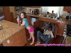 Sedcutive teen amateur bangs older plumber