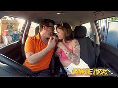 HD Fake Driving School Spanish kitty cat rides cock