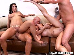 Hot group sex action!