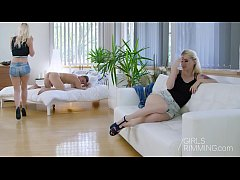 Rim BNB threesome - GIRLSRIMMING
