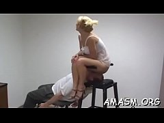 Undressed girl face sitting on her man during their femdom play