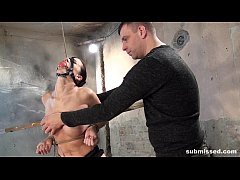 Cindy Dollar ball gagged struggling