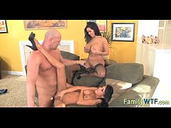 Mom and daughter threesome 0875
