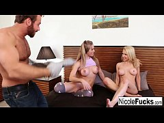 Hot  3-way with gorgeous Alix Lynx & Nicole Aniston
