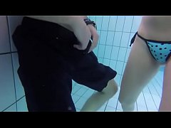 CPR Breaths Underwater in Public Pool