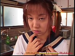 Little Japanese Schoolgirl Cum Covered - Japanese Bukkake Orgy