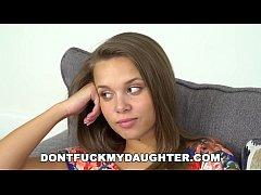 DONT FUCK MY DAUGHTER - Young Teen Rides The Family Friend's Old Cock