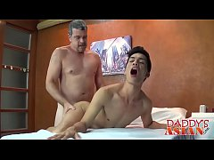 Old gay perv loves shoving his big cock in young Asian twinks