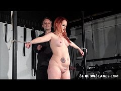 Whipped womans tied nightmare in the dungeon and intense domination of enslaved