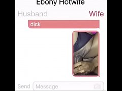 Ebony Hotwife Texting 1