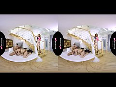 TSVirtuallovers VR - Hot Shemale Threesome with a Girl
