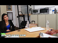 BLACKLOADS - Putting Her Latina Lips To The Test With My Big Black Dick
