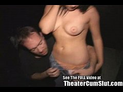 Sierra Having Group Sex In a Porno Theater For Dirty D