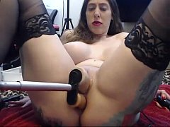 stockings girl gets railed by fucking machine and deepthroats toy. long video -webcamsluts.site
